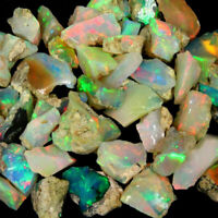 100% Natural Ethiopian Opal Multi Welo Fire Rough Lot One Piece Loose Gemstones