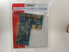Inland U-Connect PCI to USB 2.0 5 Port Card