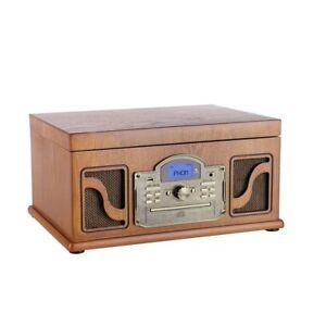 Tocadiscos Retro cd mp3 usb bluetooth grabador cassete aux in cl146 Lauson