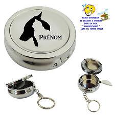 cendrier de poche porte clé chat chien personnalisable  prénom au choix réf 06