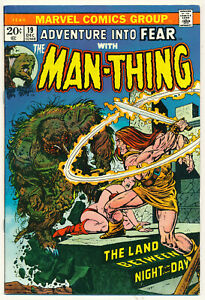 Marvel Man-Thing Issue #19 Comic 1st App Howard the Duck + Korrek 8.5 VF+ 1973