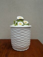 Lefton Cookie Jar Rustic Daisy With Label