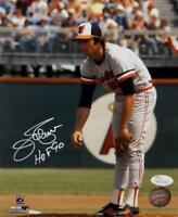 Jim Palmer Signed Orioles 8x10 Ready to Pitch PF Photo w/ HOF- JSA W Auth *White