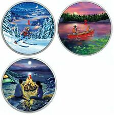 RCM 2017 $15 Great Canadian Outdoors Sunset Canoeing Silver Coin Glow in Dark