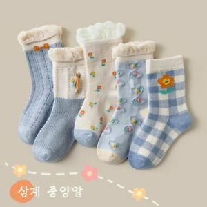 5 Pairs Child Girls Kids Multi Color Sport Sock Socks Cotton Warm Sock Christmas