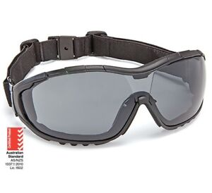 Force360 Oil & Gas Safety Glasses with strap smoke Lens Dust Seal