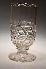 c. 1887, 1900 MITRED DIAMOND by Various CRYSTAL Celery Vase