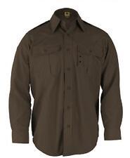 Propper Uniform Police L/S M L Sheriffs Brown BDU Tactical Shirt F530238200 New