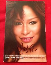 CHAKA KHAN SIGNED 6X4 FUNK THIS PROMO CARD MUSIC AUTOGRAPH 100% GENUINE
