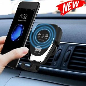 Wireless Charger Car Adjustable Gravity Vent Dashboard Mobile Phone Holder