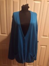 NWT J JILL TURQUOISE BLUE COTTON BLEND BUTTON CARDIGAN SWEATER POCKETS XL