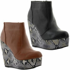 Unbranded Synthetic Leather Wedge Boots for Women