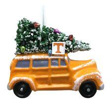 """TENNESSEE VOLUNTEERS CAR VAN W/ CHRISTMAS TREE RESIN ORNAMENT 3.5"""""""