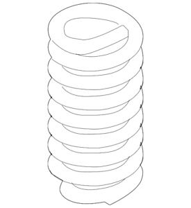 Genuine Ford Coil Spring 9C2Z-5310-V