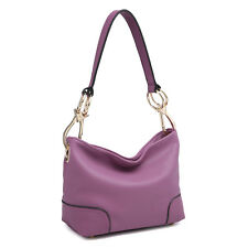 New Dasein Women Handbag Faux Leather Hobo  Tote Bag Shoulder Bag Large Purse
