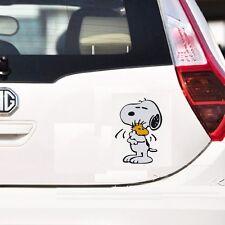 Cute Snoopy Dog hugging car decal car sticker - 1pc
