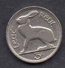 Ireland Eire 3d Irish Eire threepence Hare Coin 1933 RARE Date  A/U