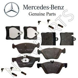 For Mercedes R170 W208 W210 W211 E420 Front & Rear Brake Pad Set w/ Sensors KIT