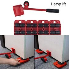 5X Red Furniture Mover Lifter Easy Slides Transport Lifting Heavy Duty Tool Set