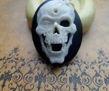 Dead Vampire Skull cameo silicone push mold mould  resin sugar craft USA SELLER
