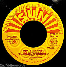 (No Name) JIMMY ELLIS-ELVIS-That's All Right+Blue Moon-Rockabilly EP45-SUN #1136