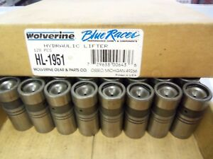 8 NOS NEW Wolverine Blue Racer HL1951 GM 5232750 Valve Lifters HL-62 Buick Chevy