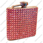 New 6oz Pink Bling Rhinestone Diamond Stainless Steel Hip Flask