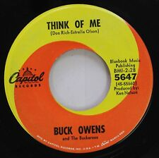 Country 45 Buck Owens And The Buckaroos - Think Of Me / Heart Of Glass On Capito