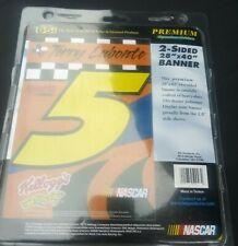 "Terry Labonte #5 NASCAR 2-Sided 28""X40"" Banner Car Racing Kellogg's Heavy Duty"