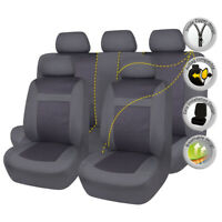 Jacquard Car Seat Covers Set Protectors Universal Truck SUV Van Honda Black Grey