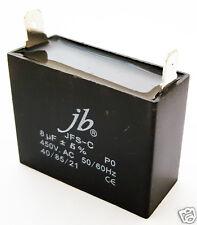 Motor Run Metalized Film Capacitor 8uF 450V AC 5% (1 piece)