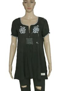 Anthropologie Odd Molly Reconsiliation Solution Embroidered Remix Crochet Top XL