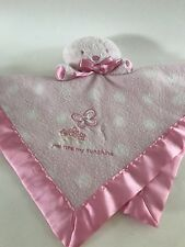 You Are My Sunshine Pink Bear Carter's Polka Dot Baby Security Blanket