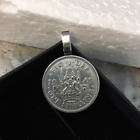 P'S Coin Jewelry Scottish Crest Necklace real coin nice gift snake chain
