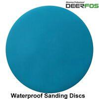 "180mm 7"" Wet or Dry Hook & Loop Sanding Discs P40-P3000 Sandpaper Pads / VAT"