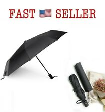 E-Feel Auto Umbrella Outdoor for Travel Fold Rain One Hand Operation - NEW FAST!