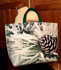 PUNCTUATE HEAVY FELT TOTE BAG PINE CONE BARNES & NOBLE BOOK BAG RARE! NEW