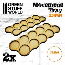 MDF Movement Trays 10 x 25mm - Warhammer Dioramas Scenery GSW