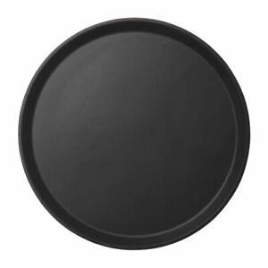 Cambro Fibreglass Round Non Skid Tray Black 14in Fibreglass and Rubber