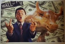 """The Wolf Of Wall Street GIANT WIDE 24 x 36""""Movie Scene Poster Leo Money Man cave"""