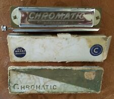 VINTAGE CHROMATIC HARMONICA MARKED USSR OCCUPIED