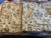 Pair of Decorative Linen Velvet EURO Pillow Shams Animals Floral People Zippers