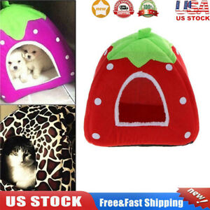 Soft Pet Dog Cat Puppy Bed House Kennel Cave Warm Cushion Basket Pad Igloo Nest