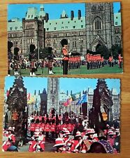 2 Postcards / stamp Changing of the guards, Ottawa, Canada 1965 & 1969 F306
