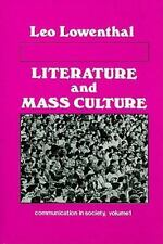 Literature and Mass Culture (Communication in Society)-ExLibrary