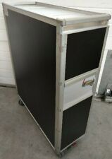 Matt Black Aircraft Galley Catering Service Trolley Full Cart with 14 Drawers