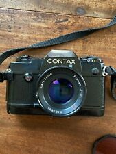 Contax 137 MA Quartz 35 mm camera with Zeiss 1.7/50 Planar lens