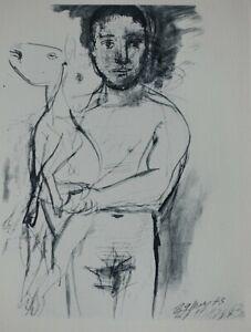 PICASSO Pablo (d'après) : Le Berger - Eau Forte - 31x24cm, 1952