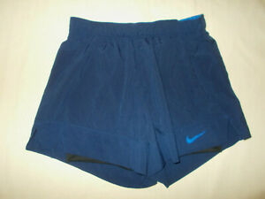 NIKE DRI-FIT NAVY BLUE 2 IN 1 RUNNING SHORTS WOMENS SMALL EXCELLENT CONDITION