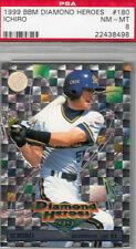 Ichiro 1999 BBM Diamond PSA 8 Japanese Card Blue Wave, Marines, New York Yankees